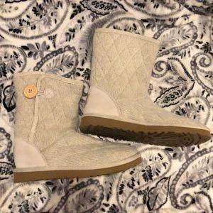 UGG Australia Cream Colored Boots